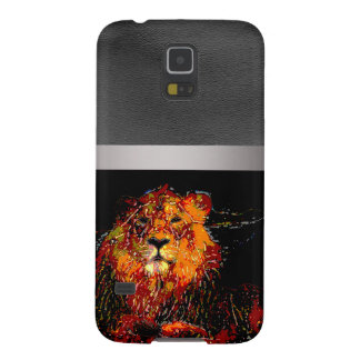 abstract Animal - Lion Case For Galaxy S5