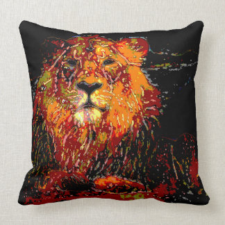 abstract Animal - Lion Pillows