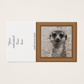 abstract Animal - Meerkat Business Card