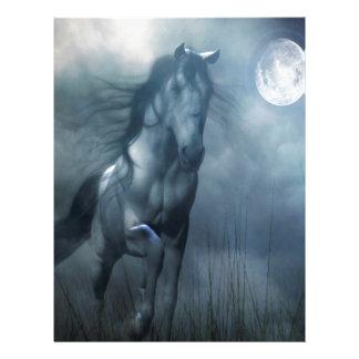 Abstract Animal Moonlight Horse Customized Letterhead
