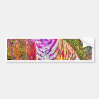 Abstract Animal-painted young tiger Bumper Sticker