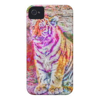 Abstract Animal-painted young tiger Case-Mate iPhone 4 Cases