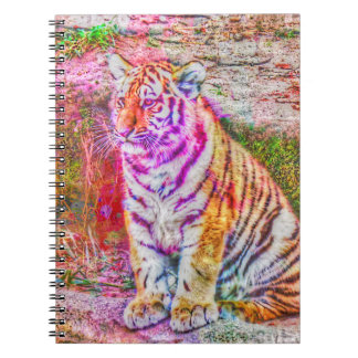 Abstract Animal-painted young tiger Spiral Notebook