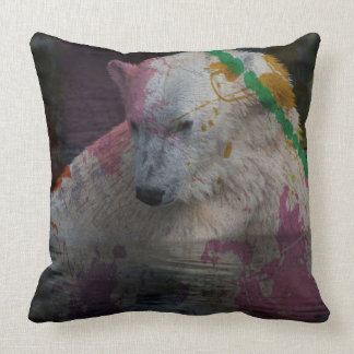 abstract Animal - Polar Bear Pillows