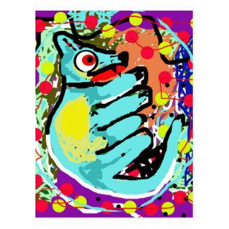 Abstract animal postcard