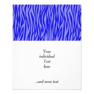 "abstract animal print,blue 4.5"" x 5.6"" flyer"
