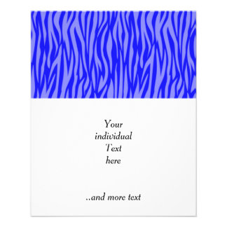 abstract animal print,blue full color flyer