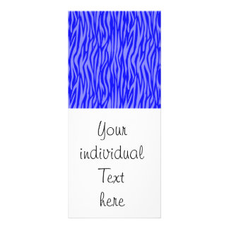 abstract animal print,blue personalized rack card