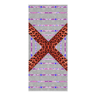 Abstract animal print floral stripes pattern rack cards