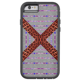 Abstract animal print floral stripes pattern tough xtreme iPhone 6 case