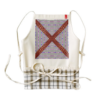 Abstract animal print floral stripes pattern zazzle HEART apron