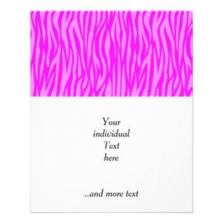 abstract animal print, pink flyer