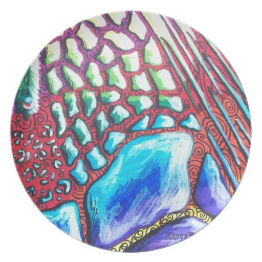 Abstract Animal Print Party Plates