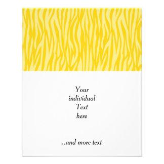 abstract animal print,yellow flyer