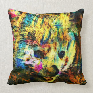 abstract Animal - red Panda Throw Pillow
