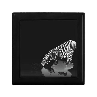 Abstract Animal Stripped Tiger Jewelry Box
