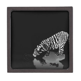 Abstract Animal Stripped Tiger Premium Trinket Boxes