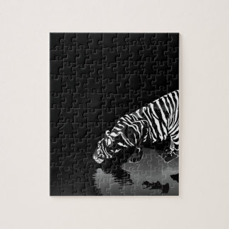 Abstract Animal Stripped Tiger Jigsaw Puzzles