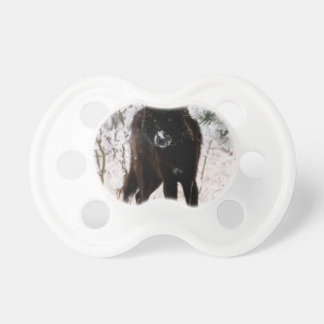 Abstract Animal Winter Wolf Hound Pacifiers