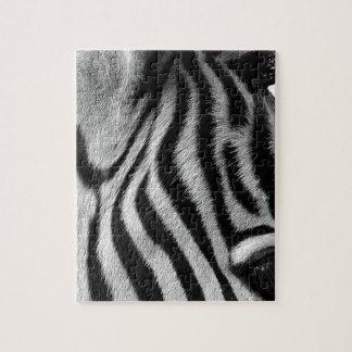 Abstract Animal Zebra Eye Jigsaw Puzzle