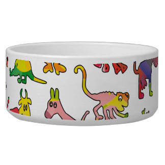 Abstract Animals Pattern Tiles Bowl
