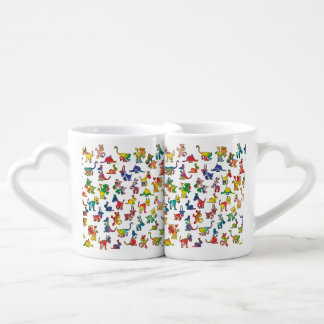 Abstract Animals Pattern Tiles Couples Coffee Mug
