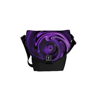 Abstract Anime in Purple N Black Messenger Bag