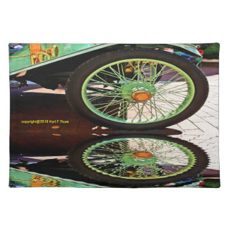 Abstract antique car placemats