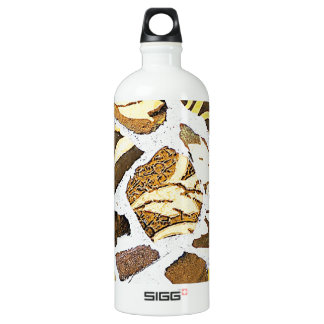 Abstract Antique Junk Style Fashion Art Solid Shin Aluminum Water Bottle