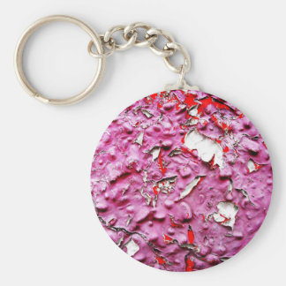 Abstract Antique Junk Style Fashion Art Solid Shin Basic Round Button Keychain