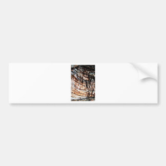 Abstract Antique Junk Style Fashion Art Solid Shin Bumper Sticker