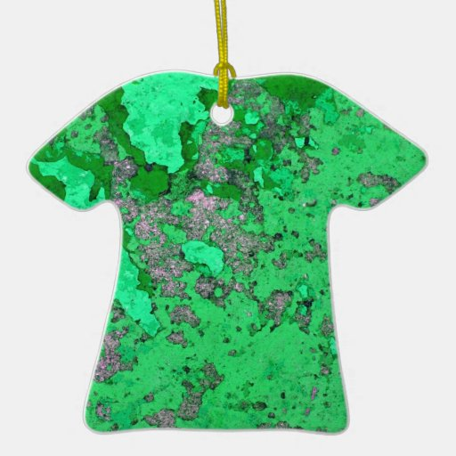 Abstract Antique Junk Style Fashion Art Solid Shin Double-Sided T-Shirt Ceramic Christmas Ornament