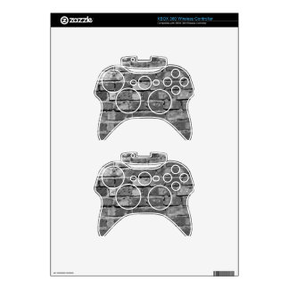 Abstract Antique Junk Style Fashion Art Solid Shin Xbox 360 Controller Decal