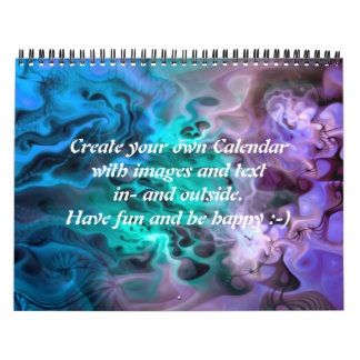 Abstract Apophysis Fractal I + your text & images Calendar