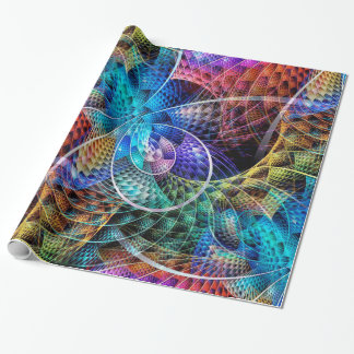 Abstract Apophysis Fractal X Wrapping Paper