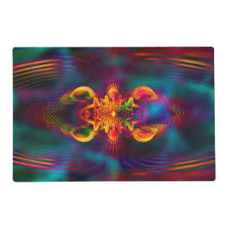 Abstract Apophysis Fractal XI + your idea Laminated Placemat
