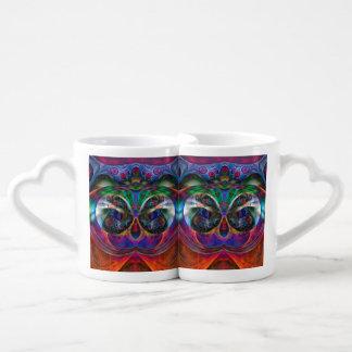 Abstract Apophysis Owl I Coffee Mug Set