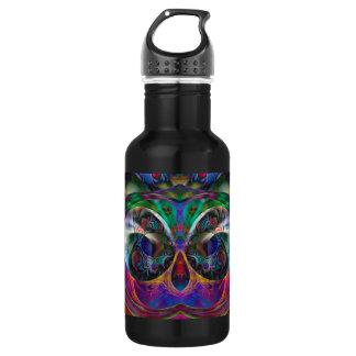 Abstract Apophysis Owl I 18oz Water Bottle