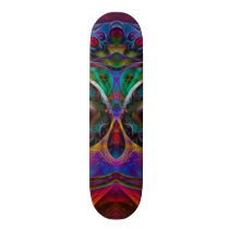 Abstract Apophysis Owl I Skateboard