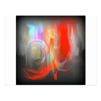 Abstract Apparition Postcard