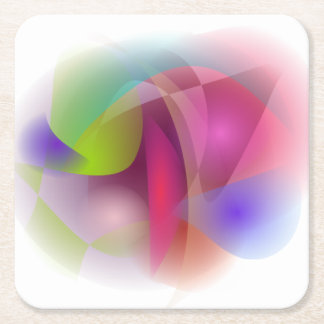 Abstract Apple Square Paper Coaster