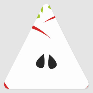 Abstract Apple Triangle Sticker
