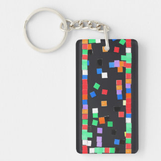 Abstract Applique Keychain