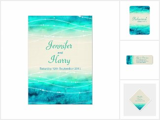 Abstract aqua sand beach wedding