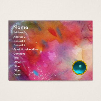 ABSTRACT AQUAMARINE BUSINESS CARD