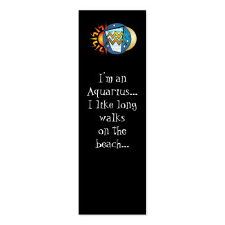 Abstract Aquarius Bookmarks Double-Sided Mini Business Cards (Pack Of 20)