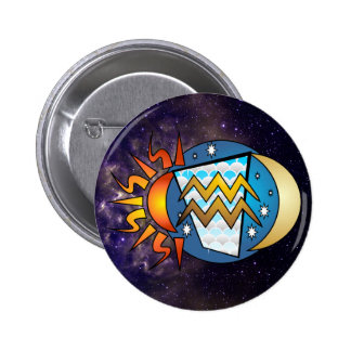 Abstract Aquarius Button