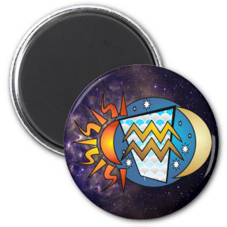 Abstract Aquarius Magnet