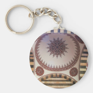 Abstract Arabesque motif on the ceiling of  Mosque Keychain