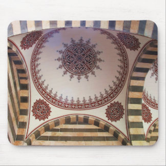 Abstract Arabesque motif on the ceiling of  Mosque Mouse Pads